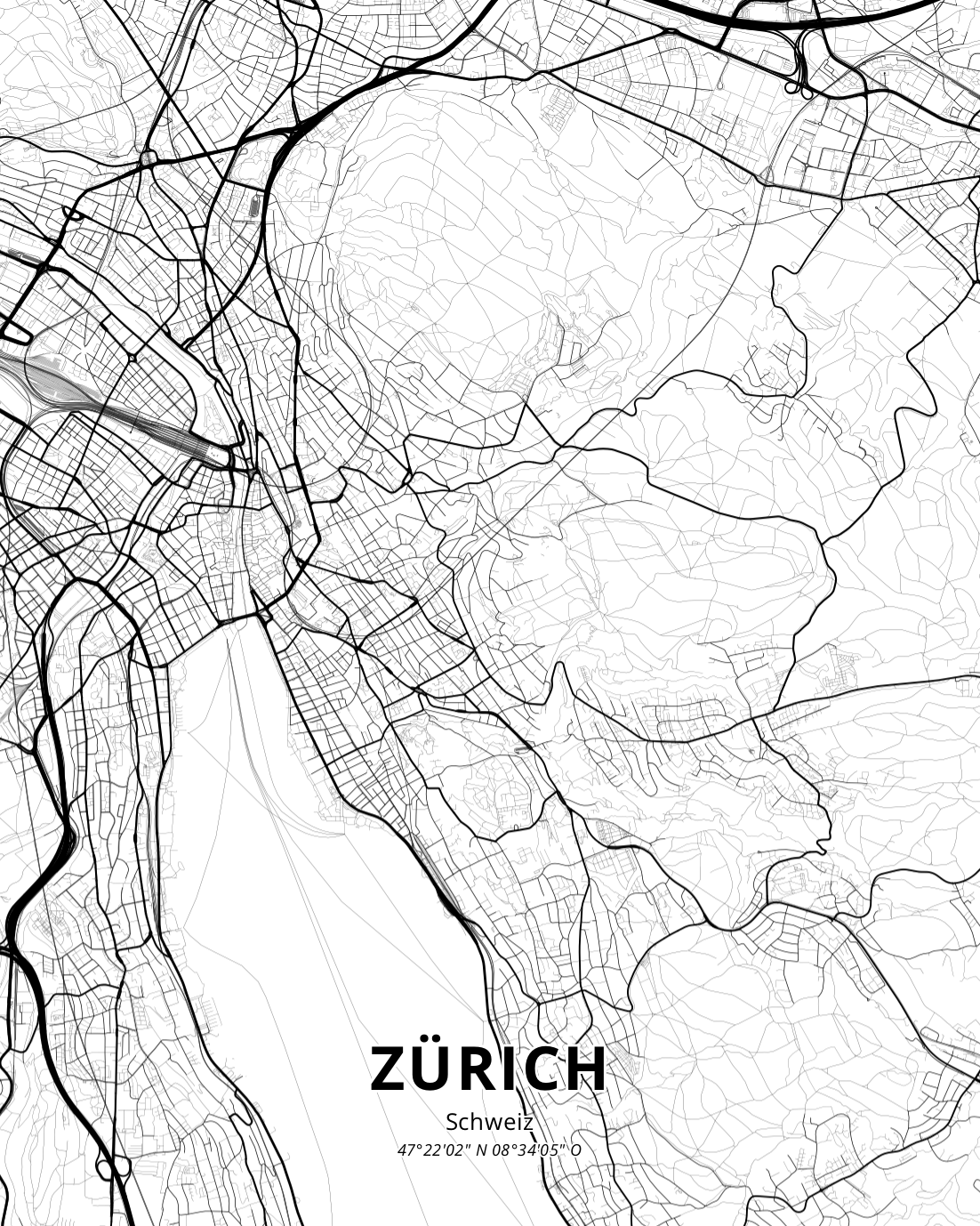 Zurich Map - The Dolder Grand