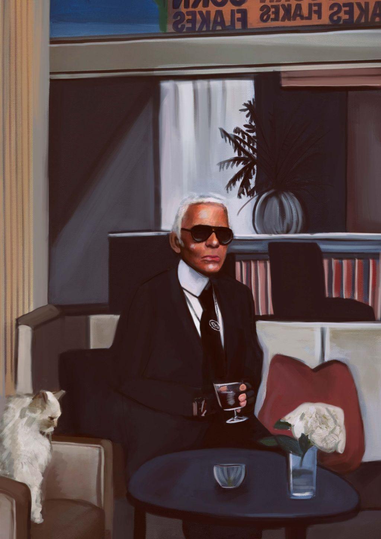 Karl Lagerfeld Illustration